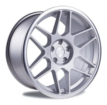 "3SDM 5x100 - 18x8.5 et35 3SDM 0.09 Wheel | 18"" Satin Silver Machined Lip S8855100SP00935"