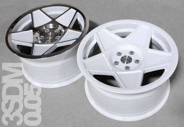 "3SDM 19x8.5 et42 / White with Polished Face 3SDM 0.05 Wheel | 19"" 5x112 White w/ Polished Face S9855112WH00542"