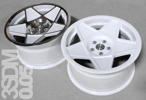 "3SDM 0.05 Wheel | 19"" 5x112 White w/ Polished Face"
