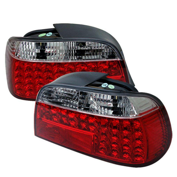 Spyder Spyder BMW E38 7-Series 95-01 LED Tail Lights - Red Clear 5000620