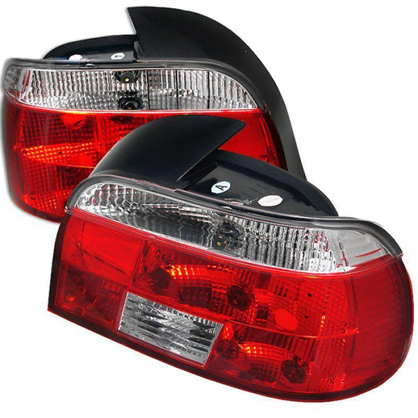 Spyder Spyder BMW E39 5-Series 97-00 Crystal Tail Lights - Red Clear 5000705