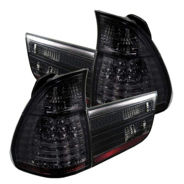 Spyder Spyder BMW E53 X5 00-06 4PCS LED Tail Lights - Smoke 5000828