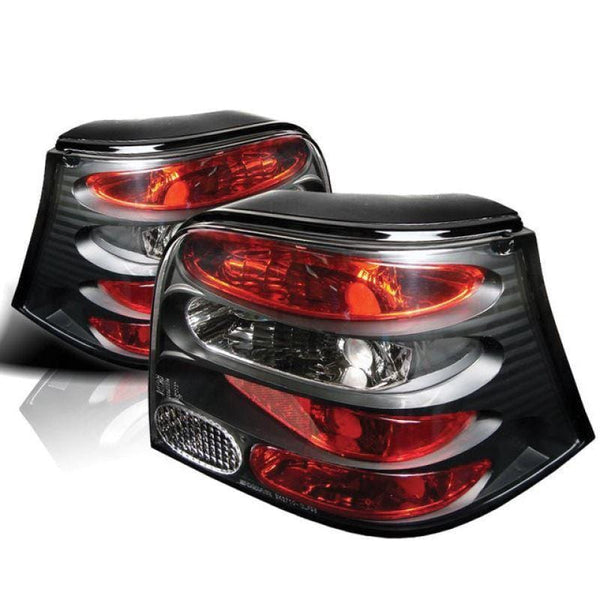 Spyder Spyder Volkswagen Golf 99-04 Euro Style Tail Lights - Black 5008343
