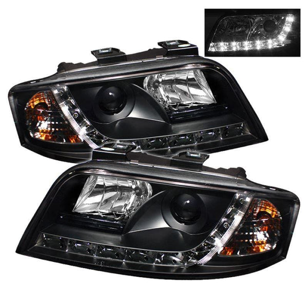 Spyder Spyder Audi A6 02-04 Projector Headlights - Black 5008657