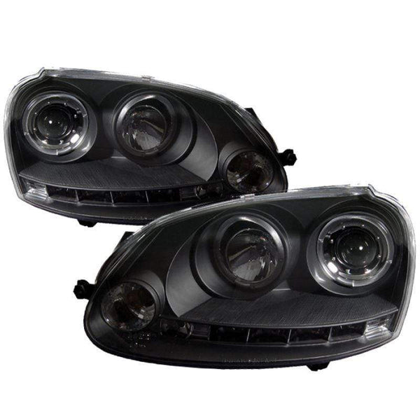 Spyder Spyder Volkswagen GTI 06-09 / Jetta 06-09 / Rabbit 06-09 Projector Headlights - Black 5012098