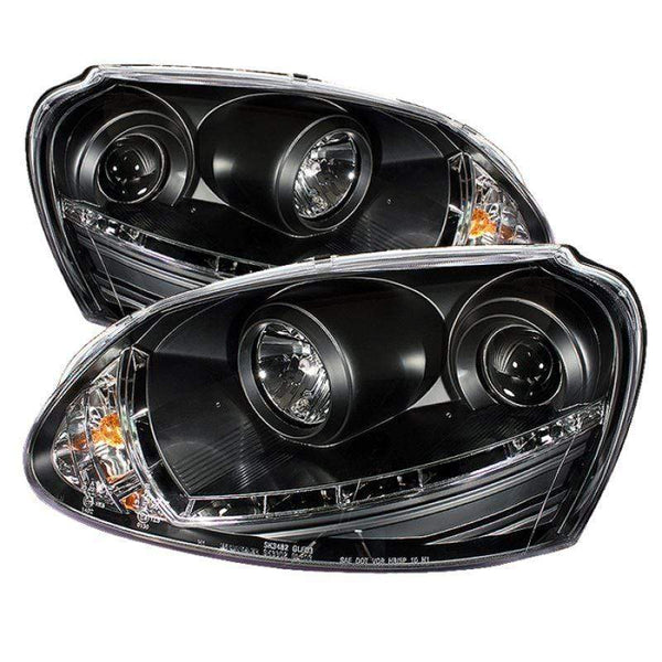 Spyder Spyder Volkswagen GTI 06-09 / Jetta 06-09 / Rabbit 06-09 Projector Headlights - Black 5017529