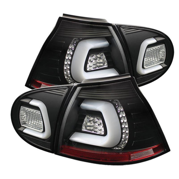 Spyder Spyder Volkswagen Golf V 06-09 LED Tail Lights - Black 5073792