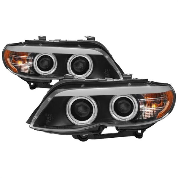 Spyder Spyder BMW X5 E53 2004-2006 Dual Projector Headlights LED - Black 5076489