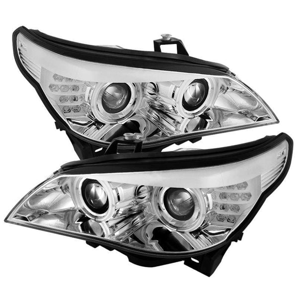 Spyder Spyder BMW E60 5-Series 04-07 Projector Headlights - Chrome 5077318