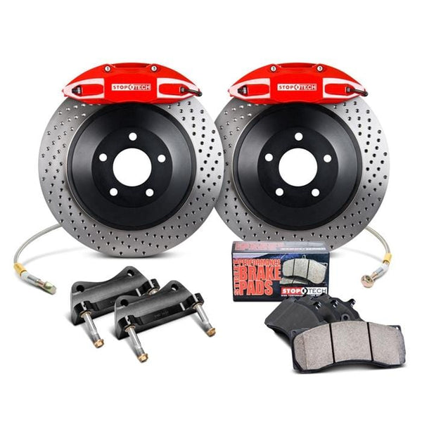 Stoptech Black / Slotted Rotors StopTech 328mm ST-41 Front Big Brake Kit for VW Mk5 | Mk6 Golf | GTi | Jetta | A3 82.893.5N00.51