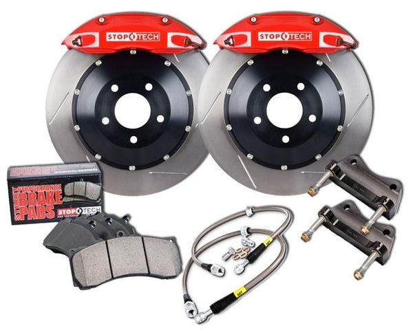 Stoptech Black / Slotted Rotors StopTech 328mm ST-40 Front Big Brake Kit for VW Mk7 GTi | Audi A3 2.0T 83.895.4300.51