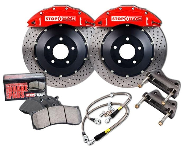 Stoptech Black / Slotted Rotors StopTech 355mm 6-Piston ST-60 Front Big Brake Kit for VW Mk7 GTi | Audi A3 2.0T 83.895.6700.51