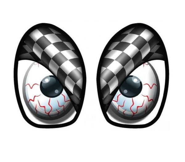M7 Speed M7 Speed Eye Decal Checkered Flag-Grayscale Set - MINI Cooper / Base / S / JCW / R50-R53 92-9006