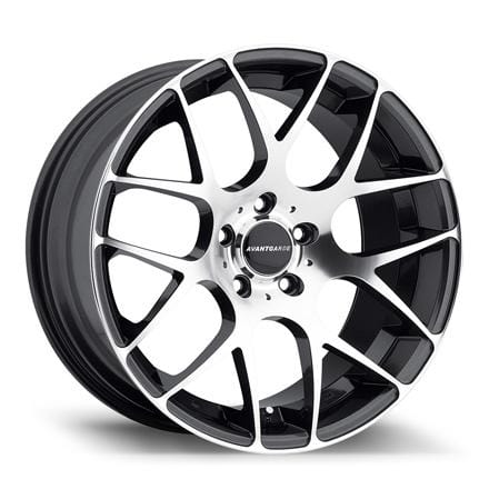 "Avant Garde 19x8.5 - 5x112 et35 - 66.56mm hub Avant Garde M310 Wheel | 19"" Machined Gunmetal AG-M310-19-MG"