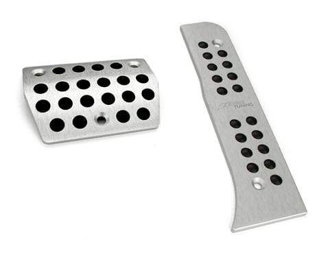 AWE Tuning Silver / Automatic AWE Tuning Pedal Covers ONLY | Mk5 | Mk6 | A3 | B6 | CC - Silver - Auto | DSG AWE-5