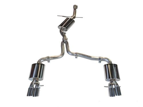 AWE Tuning Chrome Silver AWE Cat Back Exhaust (Quad Outlet Style) | B8 Audi A4 2.0T 3015-42018
