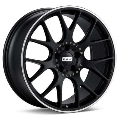 "BBS 20x8.5 et40 BBS CH-R (Black w/ Polished Steel Lip) | 5x112 20"" BBS_CH-R_BlackPSL_5x112_20"