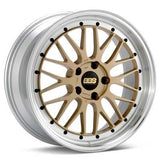 "BBS 19x8.5 et48 BBS LM (Gold with Machined Lip) | 5x112 19"" BBS_LM_GoldMach_5x112_19"
