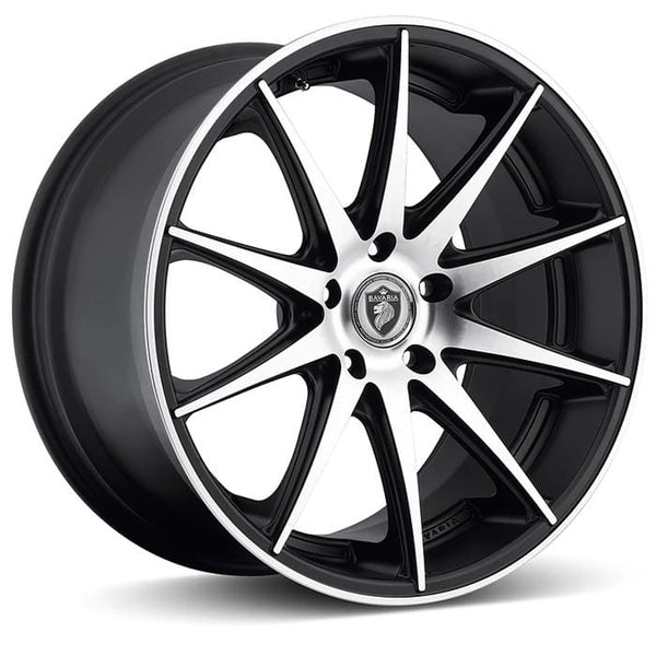"Bavaria Wheels 20x8.5 - 5x114.3 - et20 - cb73 Bavaria Wheels BC10 - 20"" - Matte Black Machined B110208565P20MB1"