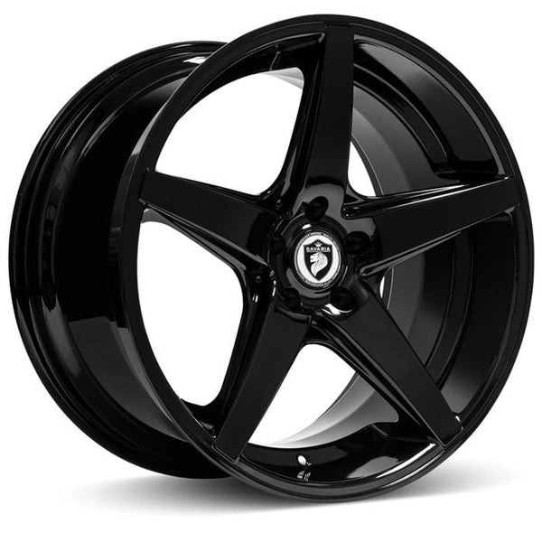"Bavaria Wheels 20x8.5 - 5x112 - et35 - cb66.56 Bavaria Wheels BC5 - 20"" - Gloss Black BC520855112P35AGB"