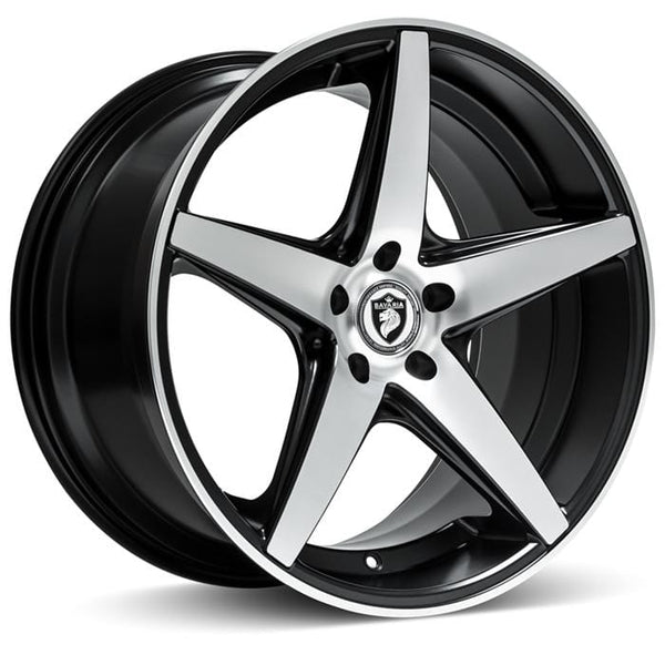 "Bavaria Wheels 20x8.5 - 5x112 - et35 - cb66.56 Bavaria Wheels BC5 - 20"" - Satin Black Machined BC520855112P35SBM"