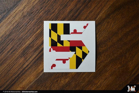 "VW Mk5 ""Speed Five"" Decal - Maryland Flag"