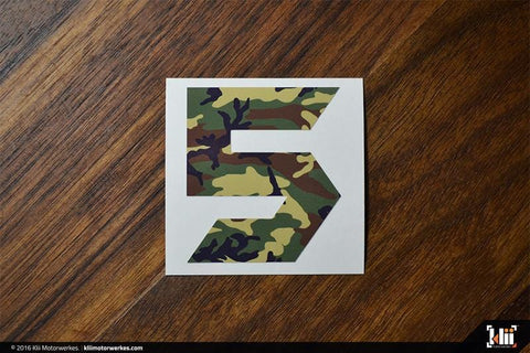 "VW Mk5 ""Speed Five"" Decal - Woodland Camo"