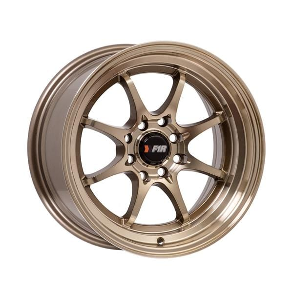 "F1R F03 15x8 ET25 4x100/114.3 Machined Bronze F1R F03 15"" Machined Bronze F03158BZ25"