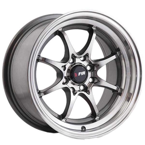 "F1R F03 15x8 ET25 4x100/114.3 Machined Gunmetal F1R F03 15"" Machined Gunmetal F03158GM25"