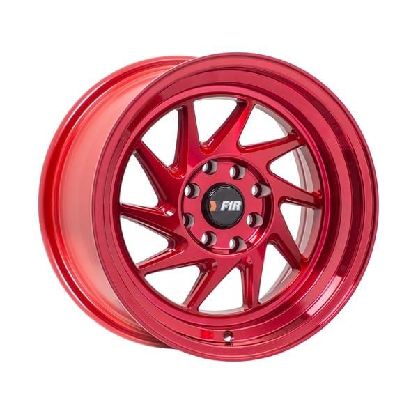 "F1R F07 15x8 ET25 4x100/114.3 Machine Red F1R F07 15"" Machine Red F07158R25"