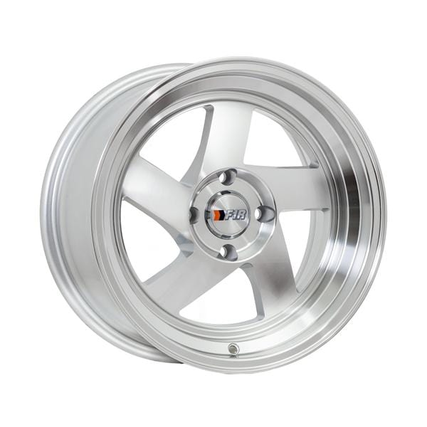 "F1R F08 15x8 ET25 4x100 Machine Silver/Polish Lip F1R F08 15"" Machine Silver/Polish Lip F08158S25"