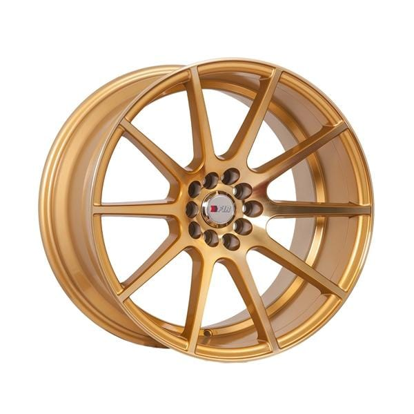 "F1R F17 18x10.5 ET20 5x100/114.3 Machined Gold F1R F17 18"" Machined Gold F171810510H20GD"