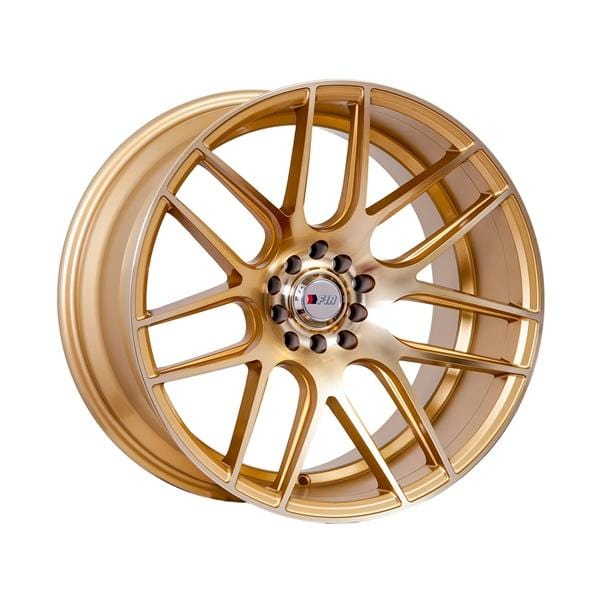 "F1R F18 18x10.5 ET20 5x100/114.3 Machined Gold F1R F18 18"" Machined Gold F181810510H20GD"
