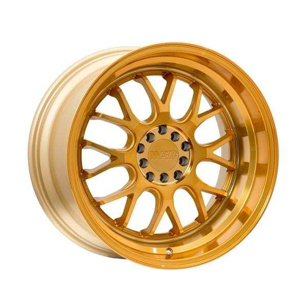 "F1R F21 17x8.5 ET35 5x100/114.3 Machined Gold F1R F21 17"" Machined Gold F211785G35"