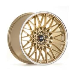 "F1R F23 17x8.5 ET35 5x100/114.3 Gold/Polish Lip F1R F23 17"" Gold/Polish Lip F231785G35"