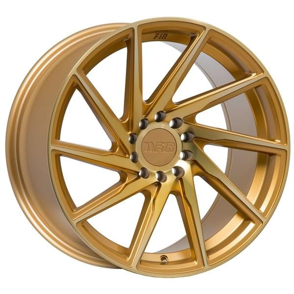 "F1R F29 18x8.5 ET38 5x100/114.3 Machined Gold F1R F29 18"" Machined Gold F291885MG38"