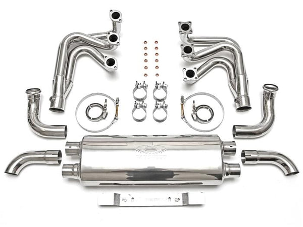 Fabspeed No Thanks / Without Heat Exchange / Competition Muffler Outlets Fabspeed RSR Header Muffler Kit - Porsche 964 Carrera FS-POR-964-RSR