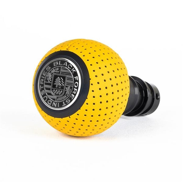 BFI BFI Heavy Weight Shift Knob - Giallo Taurus Yellow Leather - Black Anodized (BMW Fitment) GS2SYTB