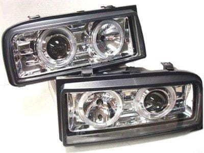Helix Helix CORRADO Ecode Chrome Projector Angel Eye Headlights HVWCOHL-C