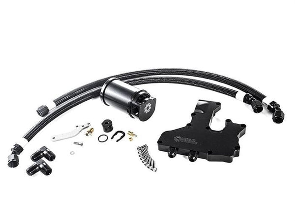 Integrated Engineering Black Anodized IE Catch Can Kit | VW 2.0T TSI IEBACC2-BK