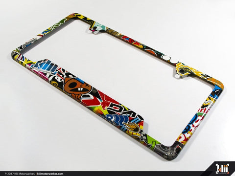 License Plate Frame (North America) - Stickerbomb
