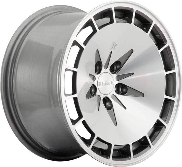 "Klutch Wheels 15x8.5"" 4x100 cb73.1 et17 Klutch Wheels KM16 - 15"" (Gunmetal) Klutch-KM16-15-Gunmetal"