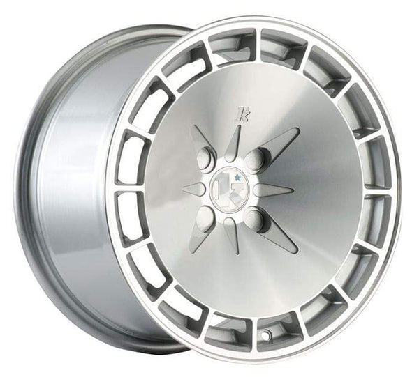 "Klutch Wheels 15x8.5"" 4x100 cb73.1 et17 Klutch Wheels KM16 - 15"" (Silver Machined) Klutch-KM16-15-SM"