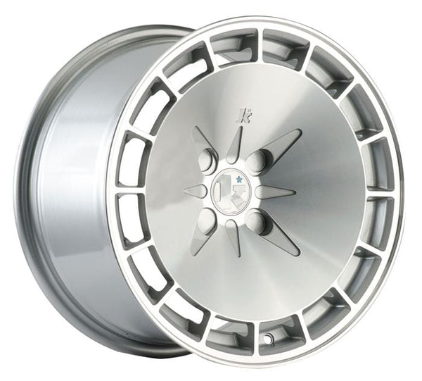 "Klutch Wheels 16x8"" 4x100 cb73.1 et15 Klutch Wheels KM16 - 16"" (Silver Machined) Klutch-KM16-16-SM"