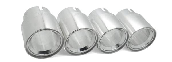 "UroTuning M3/M4 Silver Billet 3.75"" Exhaust Tips for BMW M3 M4 M5 M6 BMS-F8X-TIP-S"