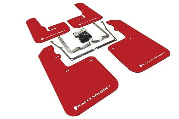 RallyArmor Rally Armor 2015+ VW Jetta UR Red Mud Flap w/ White Logo MF42-UR-RD/WH