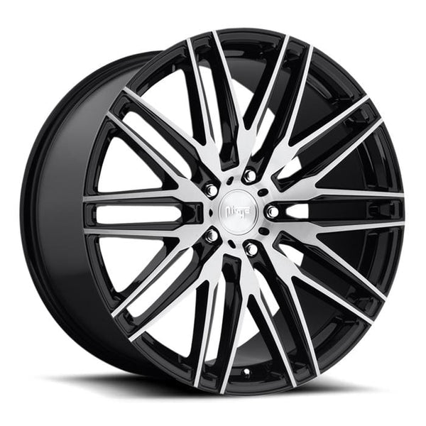 "Niche 22x10.5"" 5x120 cb72.5 et40 Niche Anzio Wheel 22"" M165 (Gloss Black with Brushed Face) M165220521+40"