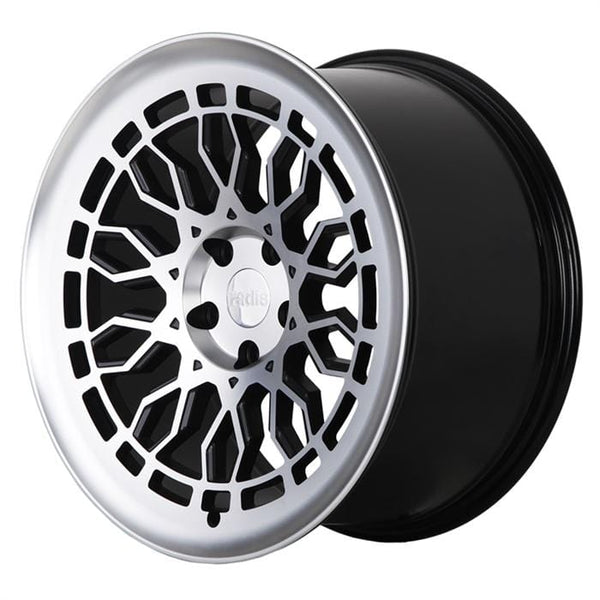 "Radi8 Wheels 5x100 18x8.5"" et35 - 57.1mm Hub Radi8 R8A10 Wheel 18"" Black w/Machine Face A10-1885-5100-35-BMF"