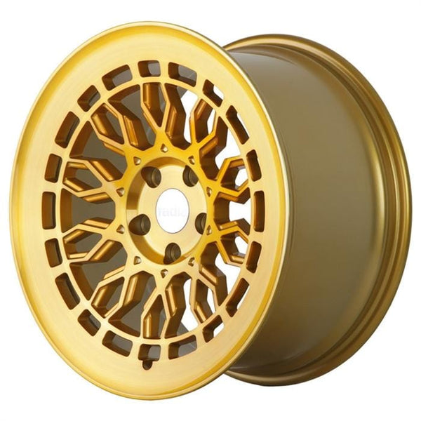 "Radi8 Wheels 5x112 19x8.5"" et45 - 66.56mm Hub Radi8 R8A10 Wheel 19"" Gold w/ Brushed Face A10-1985-5112-45-GBF"
