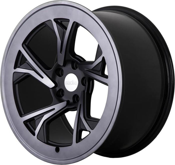 "Radi8 Wheels 5x112 19x8.5"" et45 - 66.56mm Hub Radi8 R8C5 Wheel 19"" Dark Mist C5-1985-5112-45-DM"